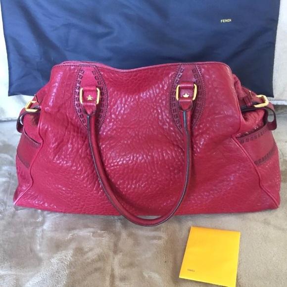 040222f2ef3 Fendi Bags   Red Leather Bag De Jour   Poshmark